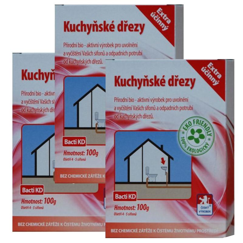 Baktoma Kuchyňské dřezy Bacti KD 100g 2+1