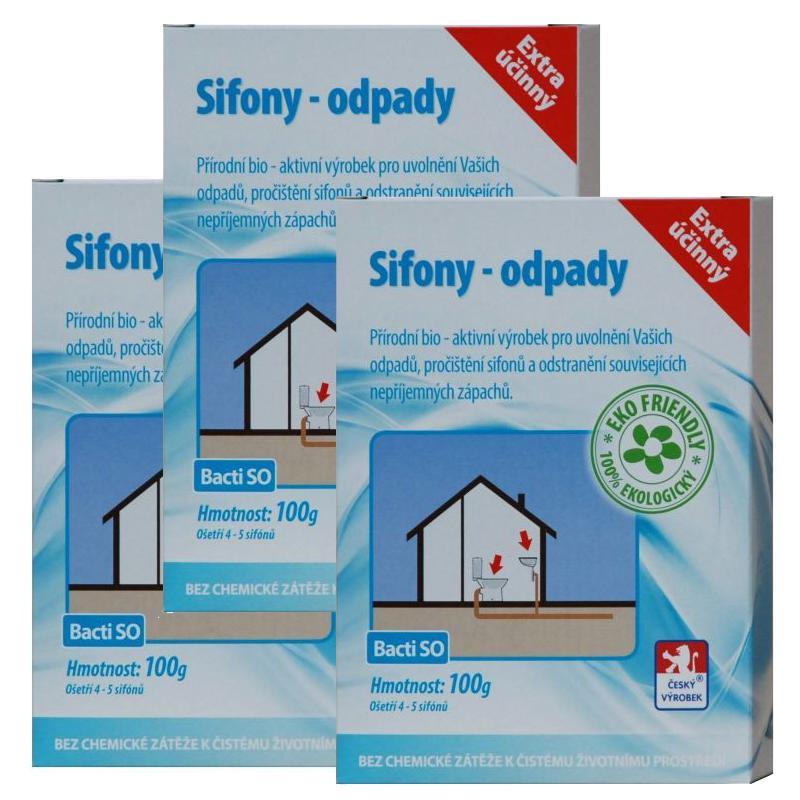 Baktoma Sifony-odpady Bacti SO 100g 2+1